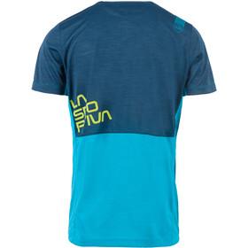 La Sportiva Crunch T-paita Miehet, tropic blue/opal